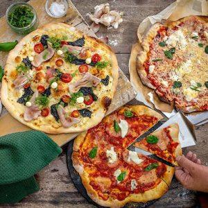 پخت پیتزا با تنور گازی